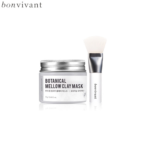 BONVIVANT-Botanical-Mellow-Clay-Mask-70g-+-Silicone-Pack-Brush-1ea